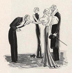 a glamorous life - man kissing ladies hand - 1920s cartoon.jpg